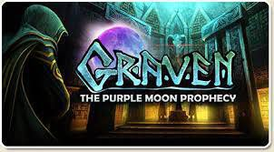game image for Graven: The Purple Moon Prophecy, title and some elements by Neale Sourna